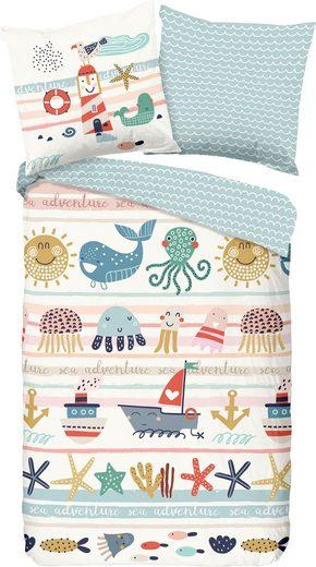 Kinderbettwäsche »Sea«, good morning, mit Meerestieren