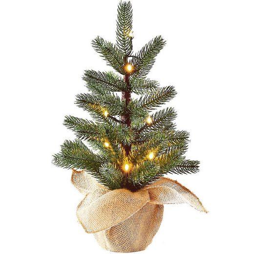 Kunstbaum »LED-Baum im Jutesack, H50cm«, CHRISTMAS GOODS by Inge
