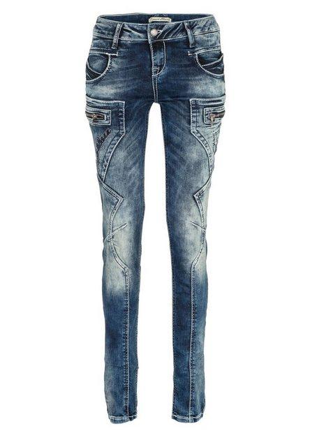 Hosen - Cipo Baxx Bequeme Jeans mit niedriger Taille in Straight Fit ›  - Onlineshop OTTO