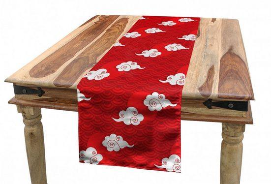 Abakuhaus Tischläufer »Esszimmer Küche Rechteckiger Dekorativer Tischläufer«, japanisch Wolken und Skala-Muster