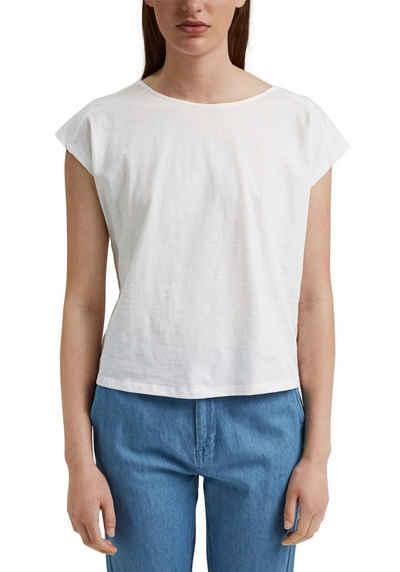 edc by Esprit T-Shirt mit Knotendetail im Rücken