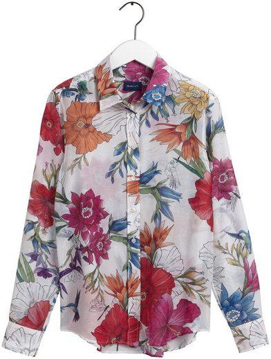 Gant Hemdbluse mit farbenfrohem Blumenprint