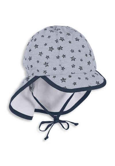 Sterntaler® Schirmmütze »Schirmmütze mit Nackenschutz« (1-St) mit Nackenschutz, Ohrenklappen und Bindeband; gefüttert mit Batist