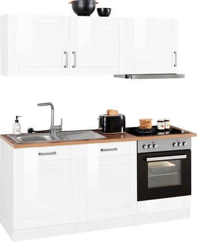 HELD MÖBEL Küchenzeile »Tinnum«, mit E-Geräten, Breite 180 cm