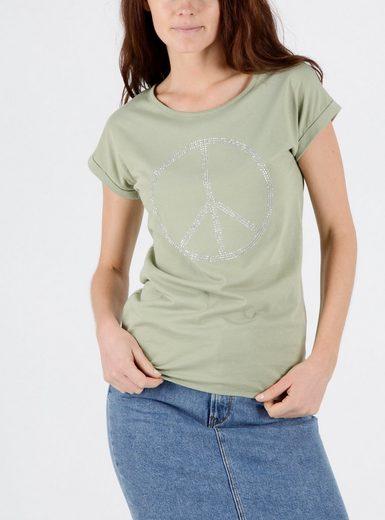 Mavi T-Shirt »PEACE SEQUIN TOP« T-Shirt mit Strass