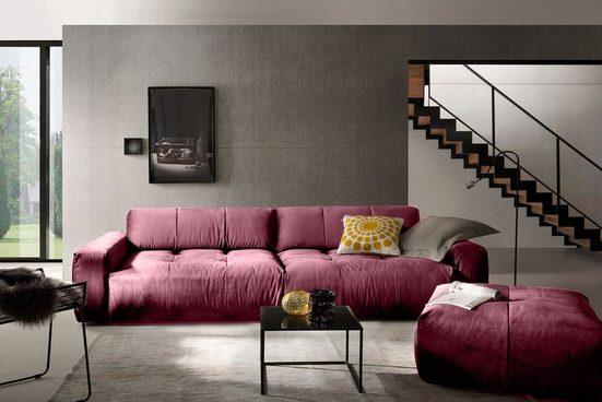 KAWOLA Sofa »PALACE«, Stoff Velvet verschiedene Farben