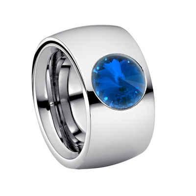 Heideman Fingerring »Coma 14 Poliert« (1-tlg), Damenring mit Stein weiss oder farbig