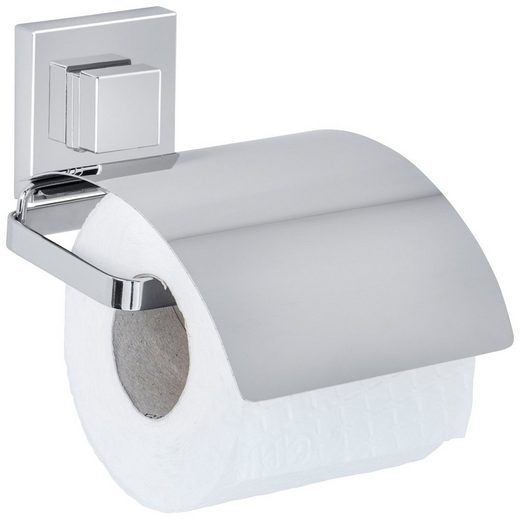 WENKO Toilettenpapierhalter »Vacuum-Loc Quadro«, Befestigen ohne bohren