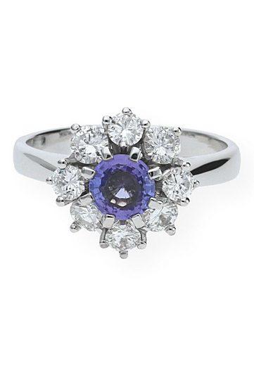 JuwelmaLux Diamantring »Ring Gold Damen und Herren« (1-tlg), Weißgold 750/000, inkl. Schmuckschachtel