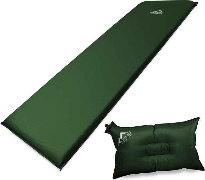 normani Thermomatte »Selbstaufblasbare Luftmatratze und Luftkissen«, Isomatte Outdoormatte Campingmatte Schlafmatte Reisematte Strandmatte