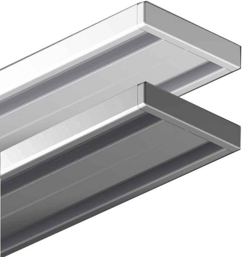 Vorhangschiene »Wendeschiene, Aluminium«, Garduna, 1 oder 2-läufig