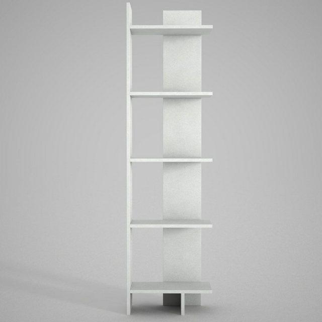 moebel17 Standregal »Bücherregal Perla Weiß«| Platzsparend mit viel Stauraum | Wohnzimmer > Regale > Einzelregale | moebel17