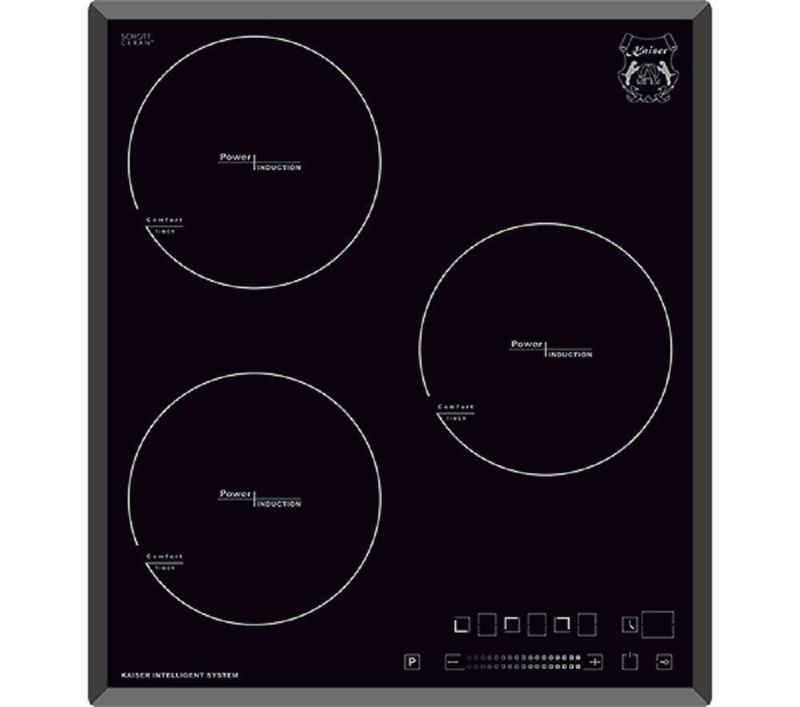 Kaiser Küchengeräte Induktions-Kochfeld, 45 cm, ohne Rahmen, Facetten,Funktionsdisplay, Power Booster, Induktionsherd