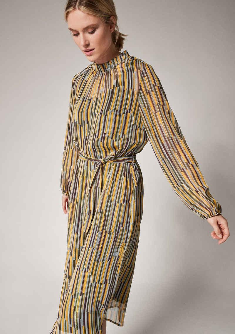 comma casual identity Minikleid »High Neck-Kleid mit Glitzergarn« Glitzergarn