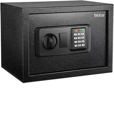 TACKLIFE Tresor »HES25A-14L«, Elektronischer Tresor mit Zahlenschloss 2×Notschlüssel, Wandtresor, Doppelbolzen Verriegelung, kann Wertsachen aufbewahren, 35×25×25 cm, 14L Schwarz