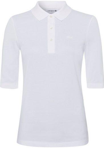 Lacoste Poloshirt mit tonigem Logo auf der Brust