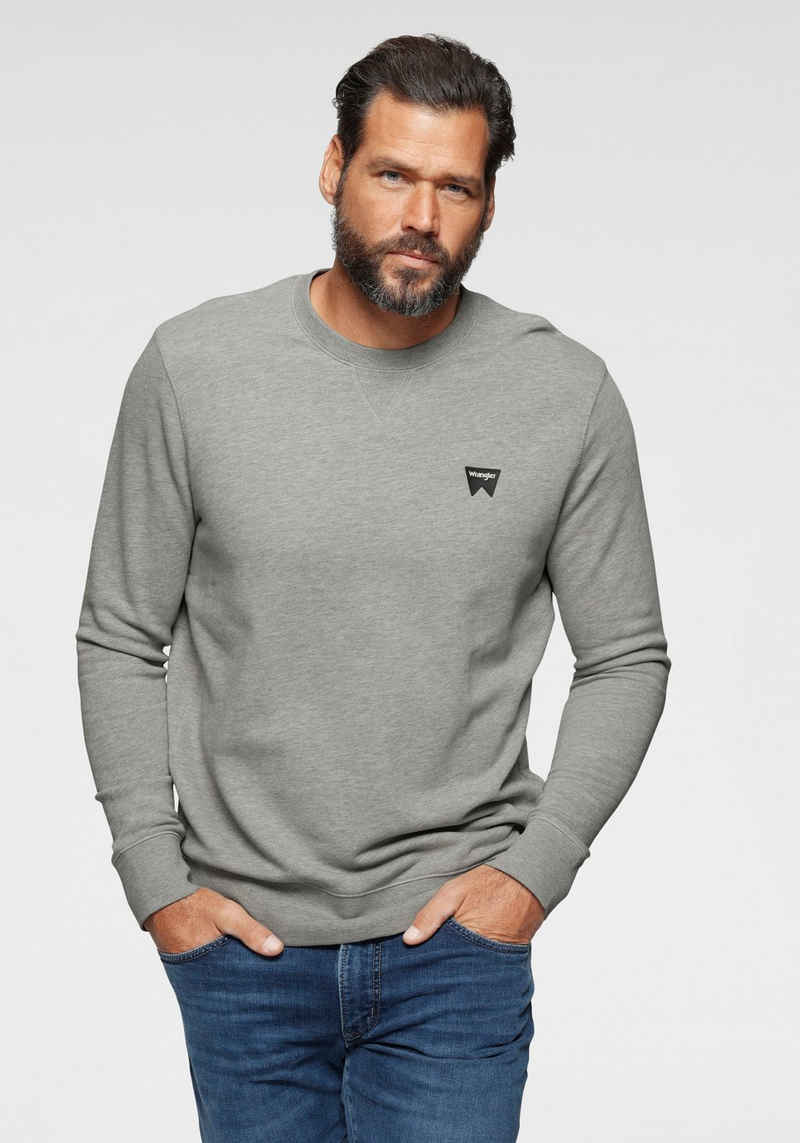 Wrangler Sweatshirt Logodruck auf der Brust