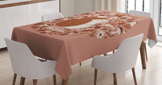 Abakuhaus Tischdecke »Personalisiert Farbfest Waschbar Für den Außen Bereich geeignet Klare Farben«, Igel Herbst-Elemente Pine