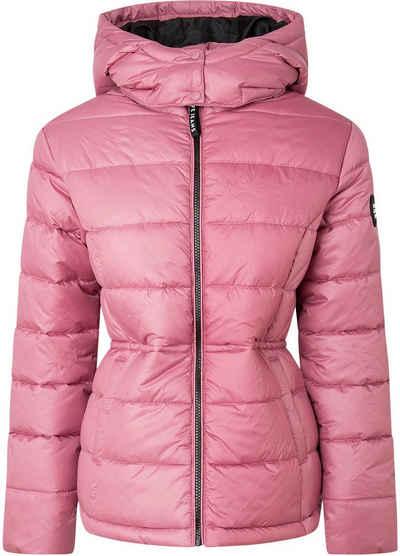 Pepe Jeans Winterjacke »CAMILLE« mit toller Kapuze und durchgehendem Reißverschluss in großer Steppung mit weicher Wattierung