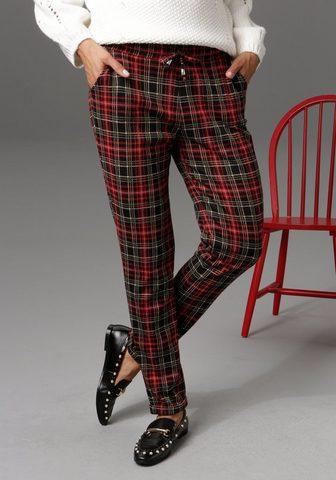 Aniston CASUAL Laisvos kelnės im Brit Chic Karo-Dessi...