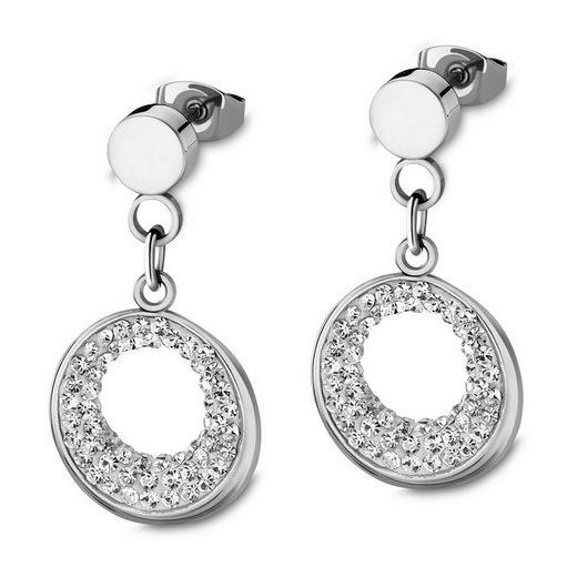 Lotus Style Paar Ohrstecker »JLS1870-4-1 Lotus Style Ohrringe silber LS1870-4/1« (Ohrstecker), Ohrstecker für Damen Edelstahl (Stainless Steel)
