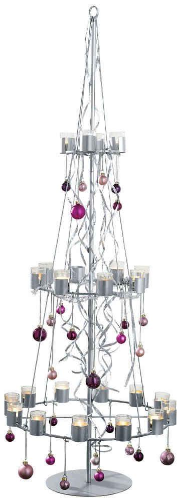 Teelichthalter »Tannenbaum«, aus Metall, Höhe ca. 170 cm