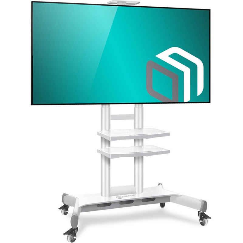 ONKRON »TV Standfuss mit Rollen (TS1881-WHT)« TV-Ständer, (bis 80,00 Zoll TV Ständer, 1-tlg., TV Ständer, höhenverstellbar, bewegbar, rollbar, mit Rollen, mit Bewegungssperre, VESA 200x300-800x500 mm, tragbar bis 90,9 kg)