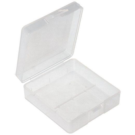 AccuCell »Aufbewahrungsbox für 1x bis 2x 9V Block 6LR61/AM-6« Batterie