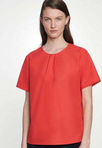 seidensticker Shirtbluse »Schwarze Rose« Kurzarm Rundhals Uni