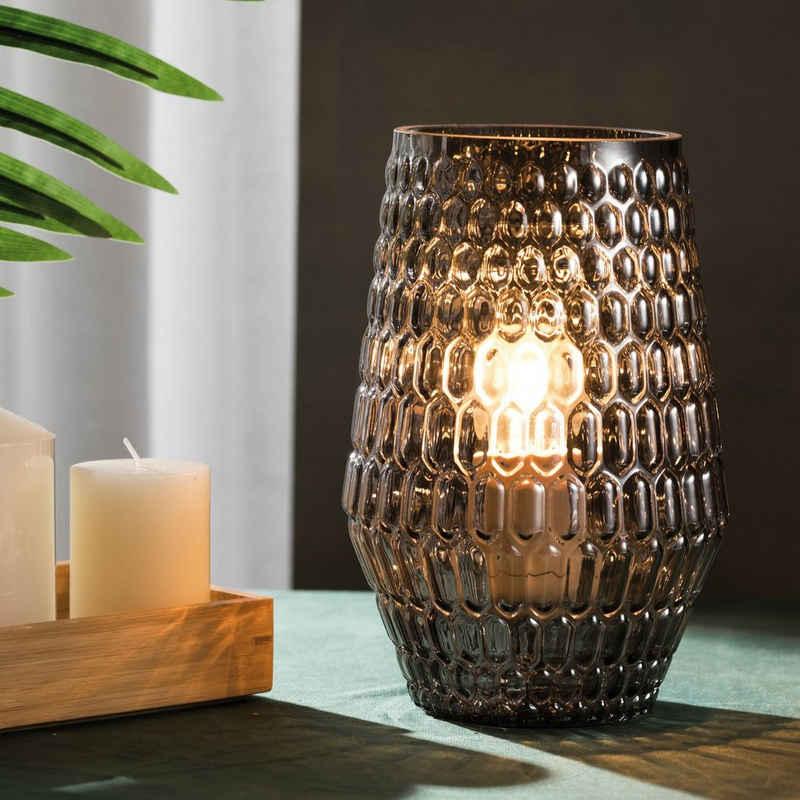 Pauleen LED Tischleuchte »Crystal Sparkle inklusive Leuchtmittel«, 3step dimmbar, Grau/Glas