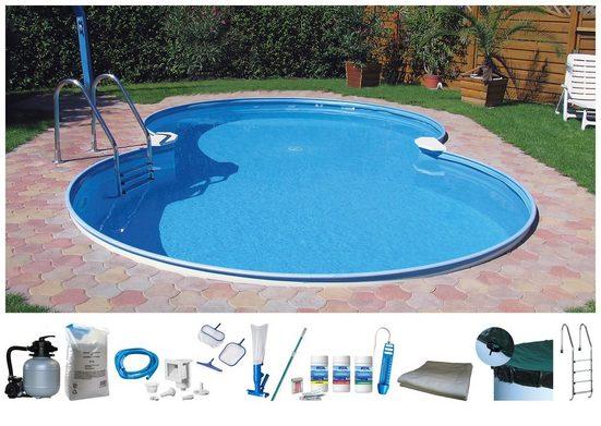 BWT - Best Water Technology Set: Achtformpool 10-tlg., BxLxH: 320x525x120 cm
