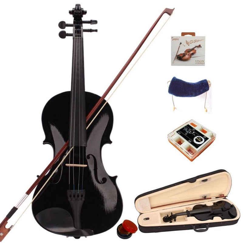 Glarry Violine »GV100 4/4 Violinenset«, GEIGE mit Koffer Kinnstütze Kolofonium