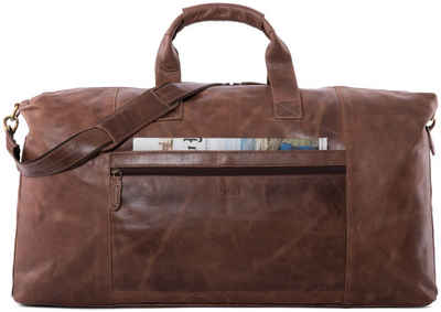LEABAGS Reisetasche »Sydney«, Reisetasche Handgepäcktasche Sporttasche aus echtem Leder im Vintage Look, (LxBxH): ca. 64 x 25 x 34 cm