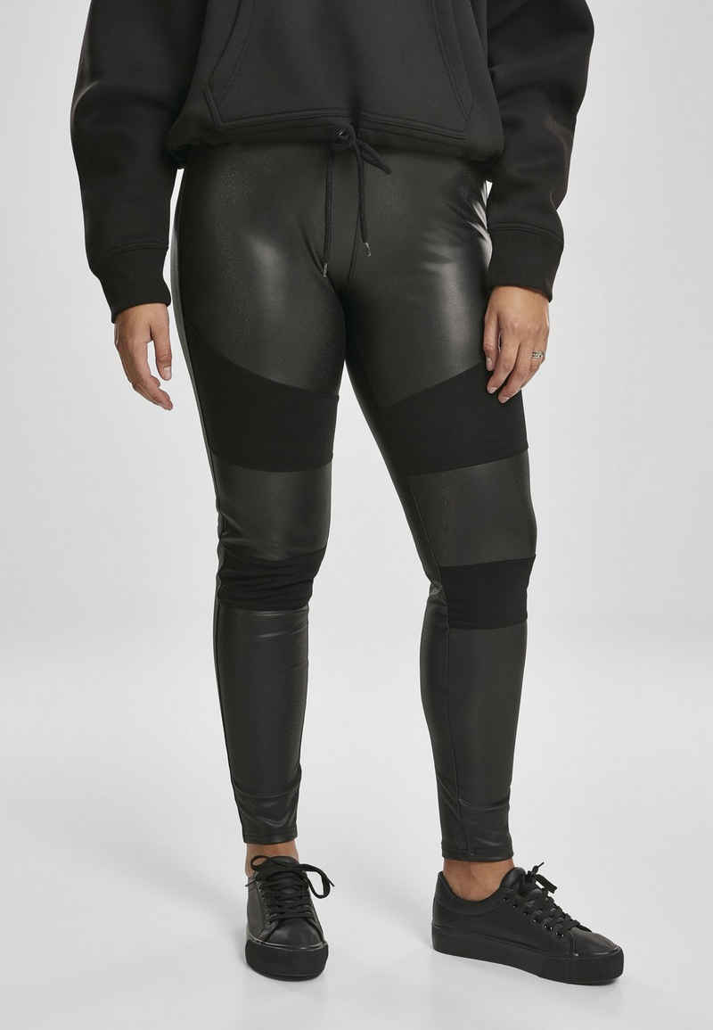 URBAN CLASSICS Leggings »Ladies Fake Leather Tech Leggings«