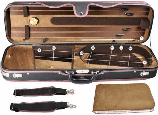 Steinbach Violinen-Koffer »Steinbach 4/4 Geigenkoffer Rechteckmodell braun mit Rucksackriemen«