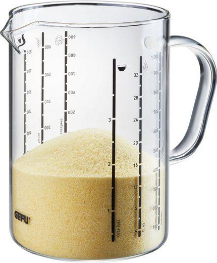 GEFU Messbecher »METI, 1000 ml«, Glas, Ausgießnase, 1 Liter