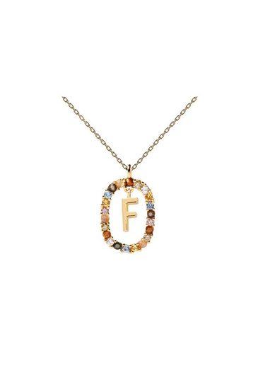 PDPAOLA Halsband »Buchstabenkette F«