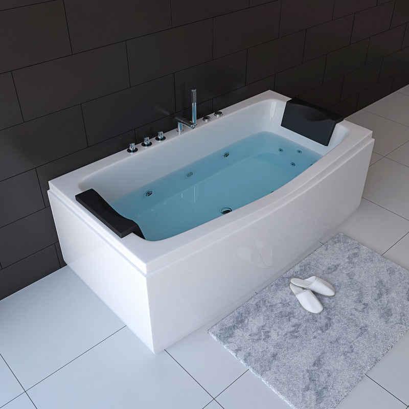HOME DELUXE Whirlpool-Badewanne »Noor«, (3-tlg), B/H/T 170 / 80 / 84 cm