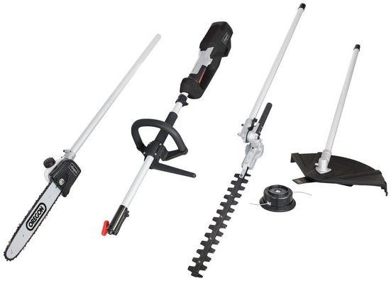 SCHEPPACH Gartenpflege-Set »MF1200-4E 4in1«, Elektro-Sense, Trimmer, Heckenscheren- und Hochentaster