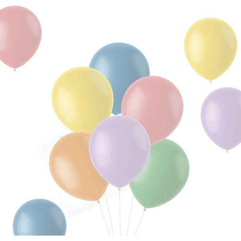 Folat Luftballon »Luftballons Powder Pastels 33 cm, 50 Stück«