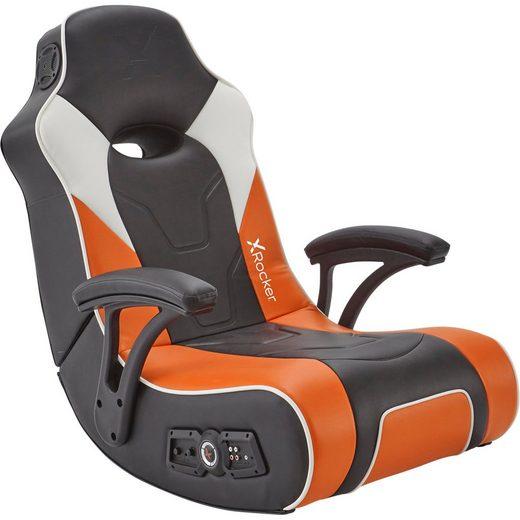 X Rocker Gaming-Stuhl »G-Force Sport 2.1 Floor Rocker Gaming Chair« 2.1 Audiosystem in Kopfstütze mit Subwoofer in der Rückenlehne