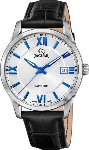 Jaguar Chronograph »UJ883/1 Jaguar Herren Armbanduhr ACM«, (Analoguhr), Herrenuhr rund, groß (ca. 40mm), Edelstahl, Lederarmband, Sport-Style