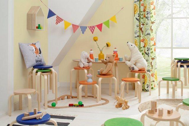 Sitzmöbel - Lüttenhütt 4 Fußstuhl »Tipa« in verschiedenen Größen und Höhen, aus Birkenschichtholz, Hocker für Kinder  - Onlineshop OTTO