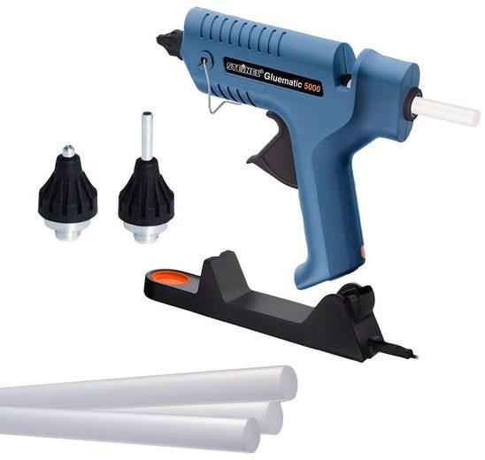steinel Heißklebepistole »Gluematic 5000«, (Heißklebepistole, 5 ULTRA Power Klebesticks, Düsen, Bedienungsanleitung, Ladestation)