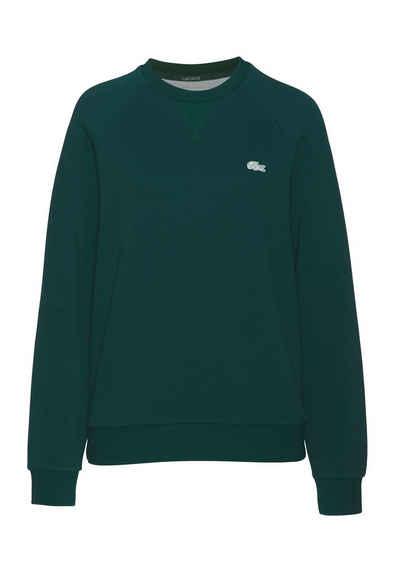 Lacoste Sweatshirt mit aufgesticktem grünen Krokodil auf der Brust