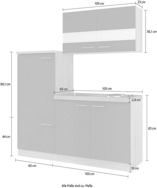 Einbauküchen - RESPEKTA Küchenzeile »Gand«, mit E Geräten, Breite 160 cm  - Onlineshop OTTO