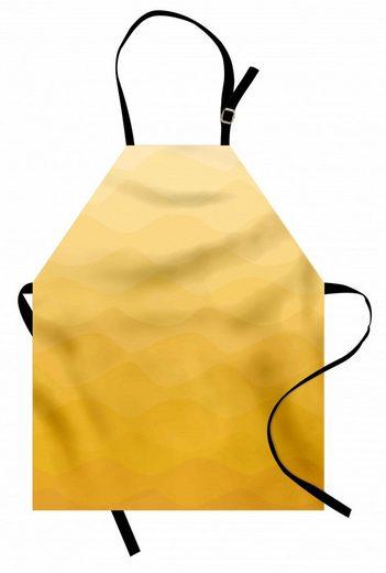 Abakuhaus Kochschürze »Höhenverstellbar Klare Farben ohne verblassen«, Yellow Ombre Retro Einfache Wellenförmige Kunst
