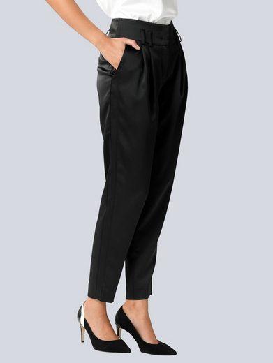 Alba Moda Jogger Pants aus edler, satinierter Ware