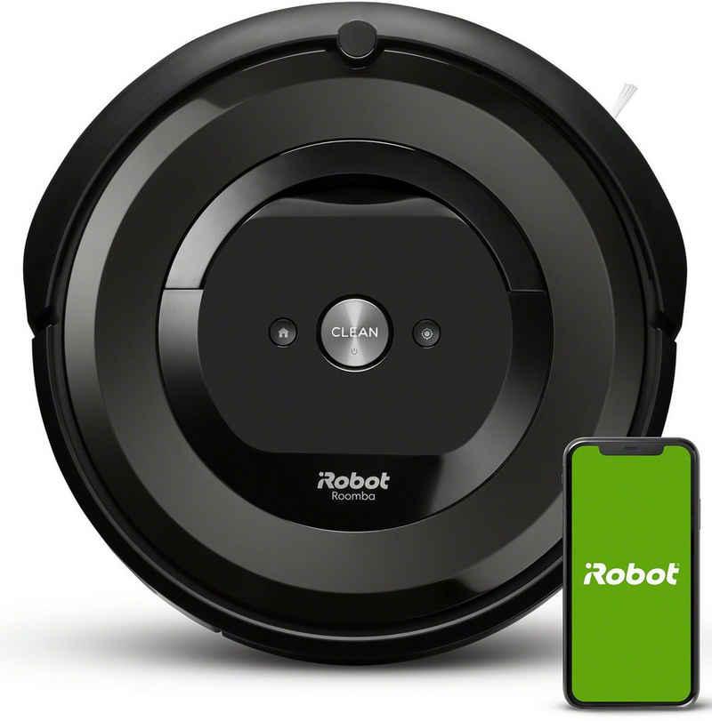 iRobot Saugroboter Roomba e5 (e5158) WLAN-fähiger Saugroboter mit zwei Gummibürsten für alle Böden, Ideal für Haustiere