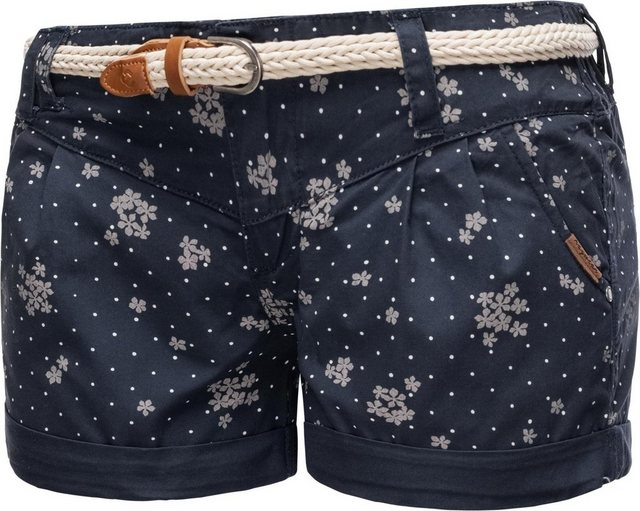 Hosen - Ragwear Shorts »Heaven Organic« (2 tlg) leichte Hotpants mit hochwertigem Flechtgürtel › blau  - Onlineshop OTTO